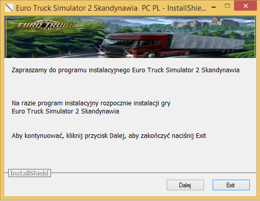 Euro Truck Simulator 2 Skandynawia Download PC PL